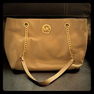 Michael Kors Tan Leather Over the Shoulder Purse